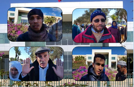 """فيديو ..تنسيقية ضحايا """"مافيا العقار"""" في وقفة احتجاجية أمام استئنافية أكادير"""