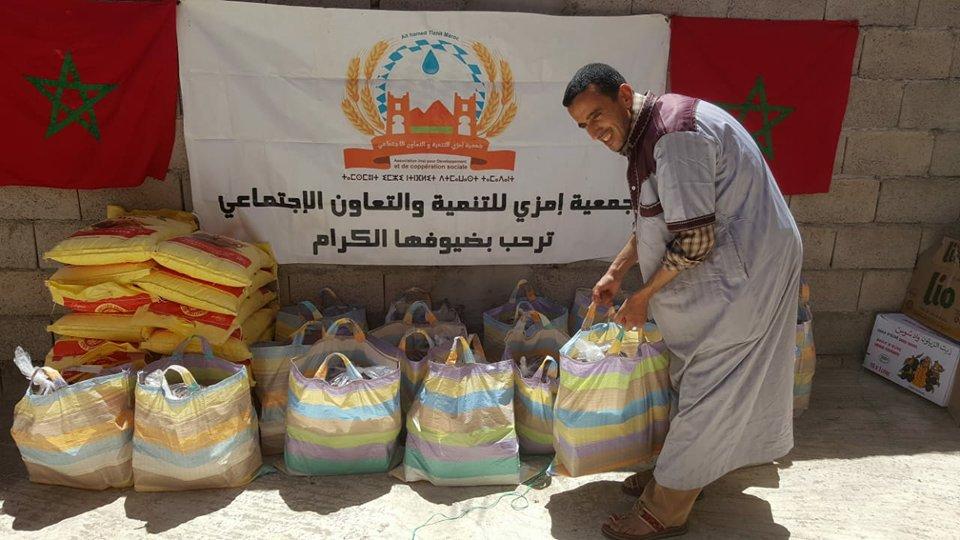 """أربعاء أيت أحمد: جمعية إمزي تنظم """"قفة رمضان"""""""