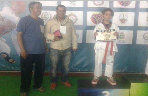 سليلة أولاد جرار البطلة هبة البركاوي تحرز فضية الدوري الوطني للتايكواندو بأكادير