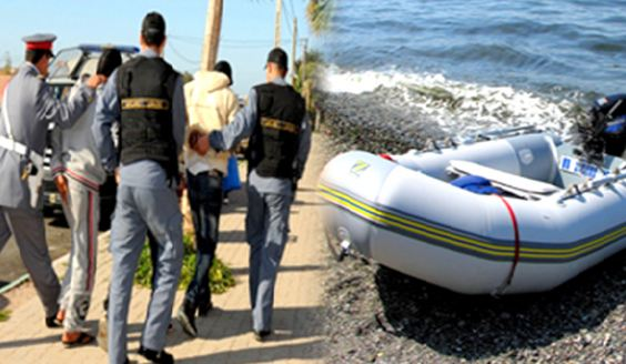 تيزنيت :تفكيك شبكة للهجرة السرية واعتقال أشخاص وحجز سيارتين وكزوال ومحركات لقوارب الموت