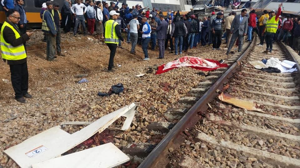 حادثة قطار بوقنادل: ارتفاع حصيلة الضحايا إلى 6 قتلى و إصابة 72 شخصا