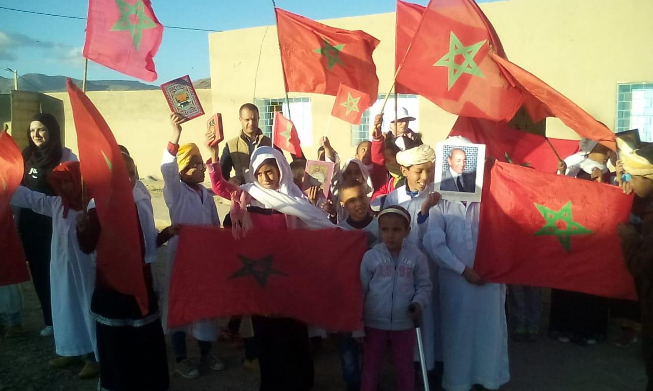 أيت وفقا : بالصور ..م.م الأدارسة تخلد حفلا مدرسيا بمناسبة ذكرى المسيرة الخضراء وعيد الاستقلال المجيد