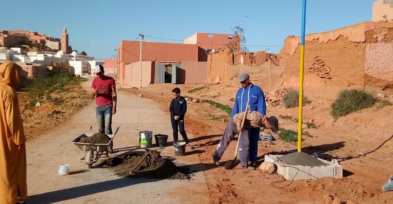 أكلو :تسوير وتسييج مقابر زاوية سيدي وكاك و تزويدها بالانارة العمومية من طرف جمعية الدرب
