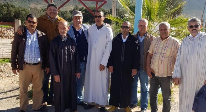 افتتاح ورش بناء مسجد مركز بونعمان