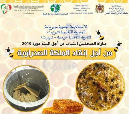 """روبورتاج: """"من أجل إنقاذ الملكة الصحراوية"""" للنادي الصحي والبيئي بثانوية الوحدة"""