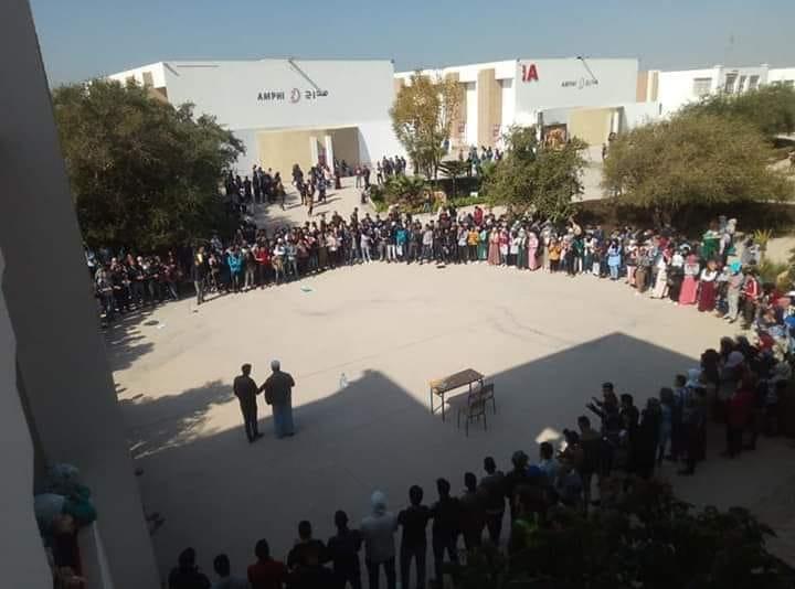 """آيت ملول: إحتجاجات طلابية تنديدا بجريمة القتل التي راح ضحيتها الطالب الجراري """"الحسين الزويد"""""""
