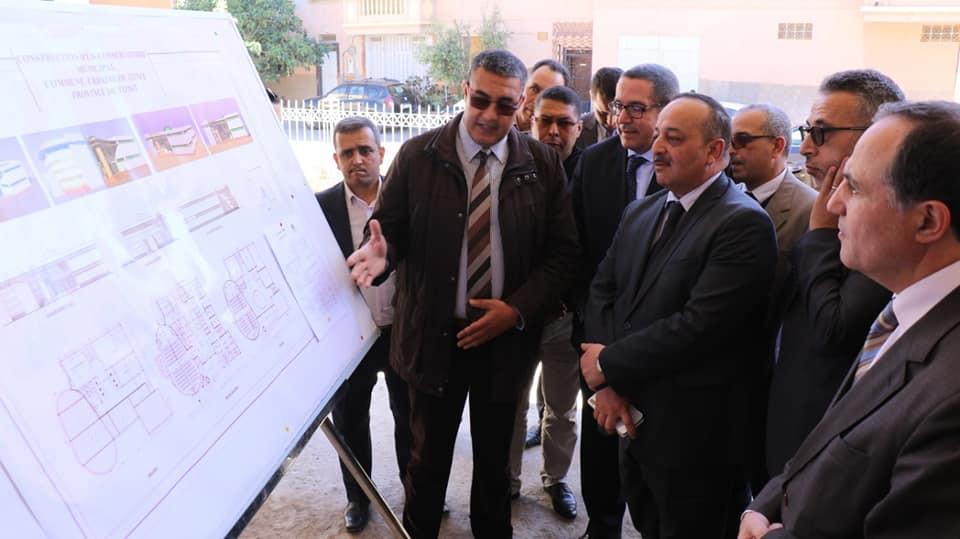 تيزنيت : وزير الثقافة في زيارة لعدد من المرافق الثقافية بالمدينة