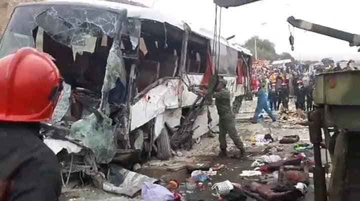 أكادير : انقلاب حافلة يخلف قتيلان وعشرات الجرحى