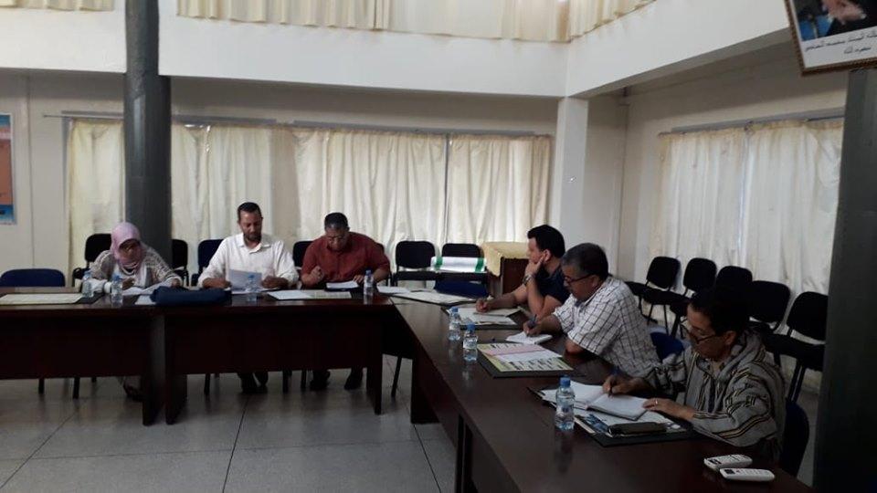 تيزنيت : الجامعة الوطنية لموظفي التعليم (UNTM)  تقدم للمدير الإقليمي تقريرها السنوي حول لتدبير المديرية للامتحانات الإشهادية