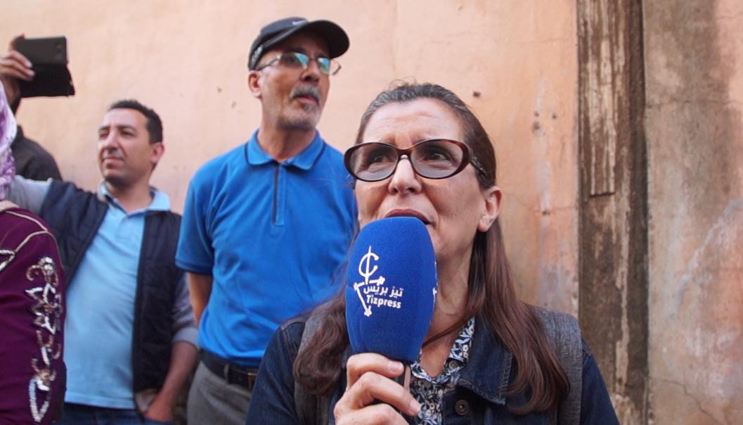 """تيزنيت : تصريح لــ """" خديجة الرياضي"""" بعد منع السلطات نشاط حقوقي للجمعية المغربية لحقوق الإنسان"""