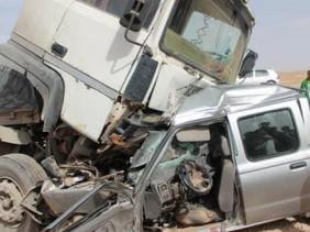 أولاد جرار: جريح في حادث إصطدام بين شاحنة وسيارة خفيفة