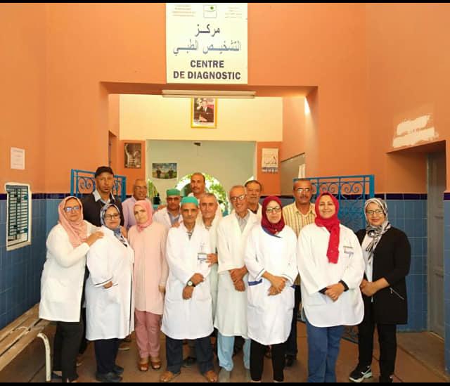 تيزنيت : جناح جديد للإستفادة من خدمات الاستشارات الطبيه ( 16 تخصص)  بمستشفى حمان الفطواكي