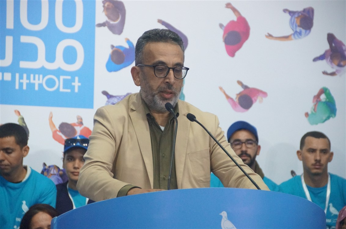 """عبدالله غازي : """"برنامج """"100 يوم 100 مدينة"""" هو بناء تعاقدي مع الساكنة و إبداع متميّز للإنصات"""