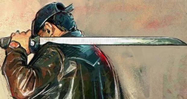 """إرسموكن : خطير ..عصابة مسلحة بسيوف على متن سيارة رباعية الدفع """" جيب"""" تشق سكون الليل بدوار """" عوجة """""""