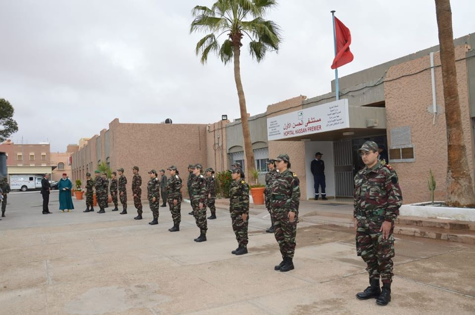 تيزنيت : طاقم طبي عسكري يدعم مستشفى الحسن الأول