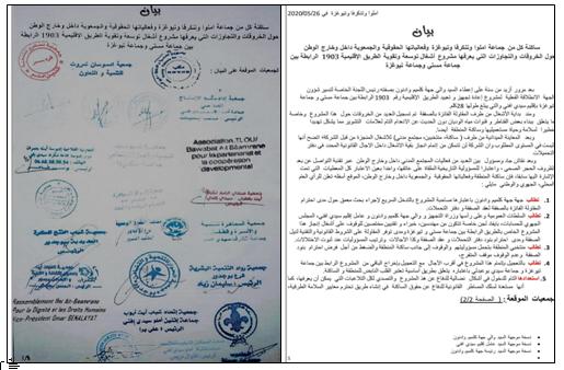 سيدي افني :مشروع طرقي يثير تساؤلات فعاليات حقوقية وجمعوية داخل وخارج الوطن